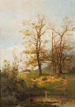 Zygmunt Sidorowicz, Nad rozlewiskiem, 1880