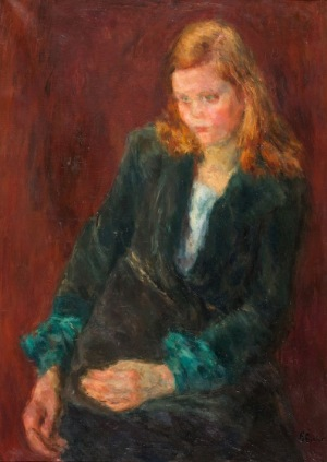 Eugeniusz Eibisch, DZIEWCZYNA W ZIELONEJ SUKNI, 1927