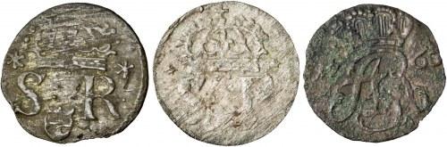 zestaw 3 x szeląg, Zygmunt III Waza, August III Sas