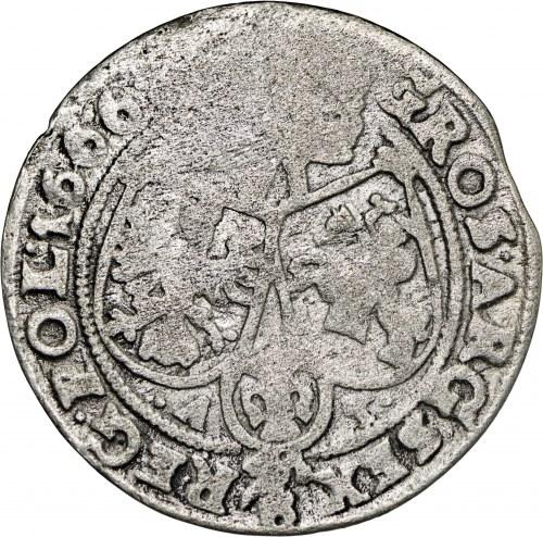 Jan II Kazimierz, Szóstak Kraków 1666
