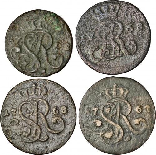 zestaw 3 x półgrosz, 1 x szeląg, Kraków