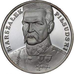 100 000 zł 1990, Józef Piłsudski, Ag 999, mały tryptyk
