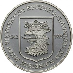 200 000 zł 1993, 750 Rocznica Nadania Praw Miejskich Szczecinowi, Ag 750