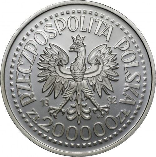 200 000 zł 1992, 500 - lecie odkrycia Ameryki, Ag 999