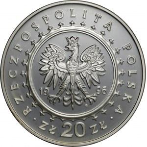 20 zl 1996, Zamek w Lidzbarku Warmińskim, Ag 925