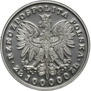 100 000 zł 1990, Fryderyk Chopin, Ag 999, mały tryptyk