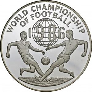 Jamajka, 100 dolarów 1986, mistrzostwa świata w piłce nożnej 1986, srebro Ag 925