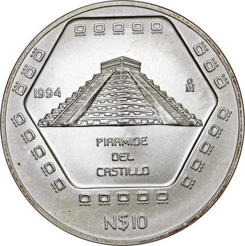 Meksyk, 10 pesos 1994, 5 uncji srebra Ag 999