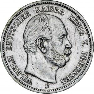 Niemcy, 5 marek 1876, Wilhelm, B, srebro