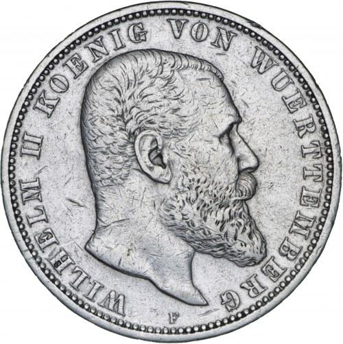 Niemcy, 5 marek 1900, Wilhelm II, F, srebro