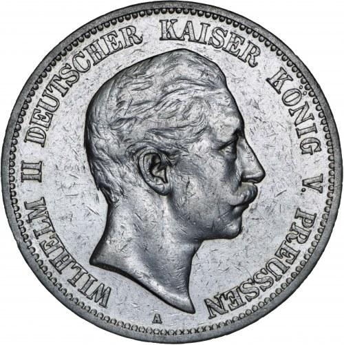 Niemcy, 5 marek 1902, Wilhelm II, A, srebro