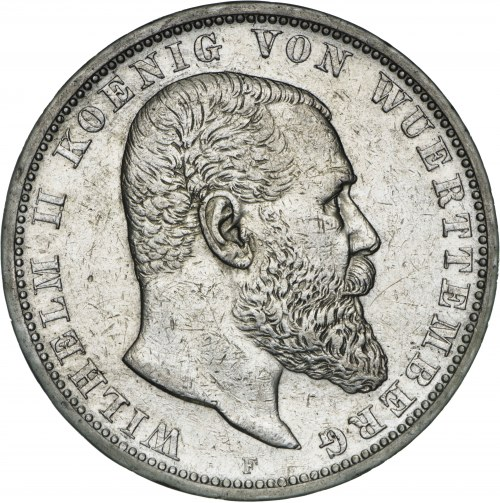 Niemcy, 5 marek 1903, Wilhelm II, F, srebro