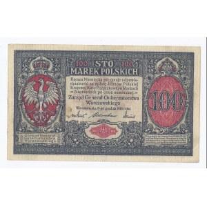 banknot 100 marek 1916, Generalne Gubernatostwo Warszawskie