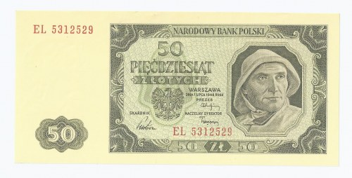 banknot 50 zł 1948, Polska