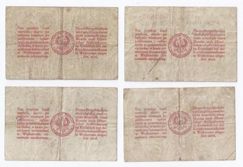 zestaw 4 bonów Wejherowo, 14.02.1920