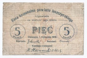 bon Osieczna, 5 marek, 01.11.1919