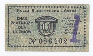 bon Łódź, 11 fenigów, Kolej Elektryczna Łódzka