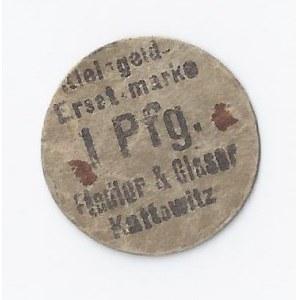 bon Katowice, 1 fenig, Fiedler & Glaser, b.d., okrągły