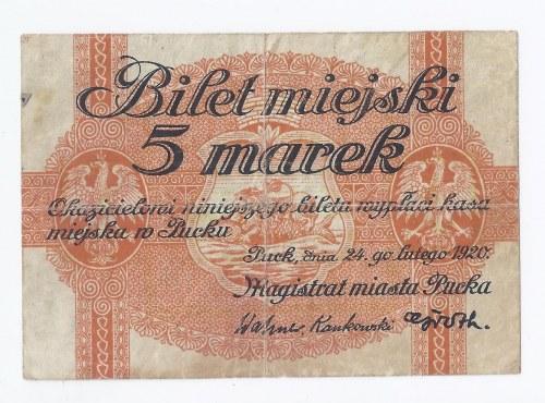 bon Puck, 5 marek, 1920