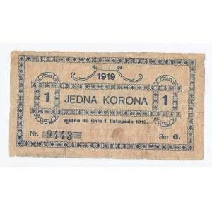 bon Gorlice, 1 korona, 1919