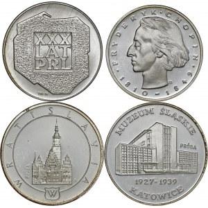 zestaw 4 srebrnych monet