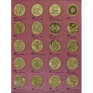zestaw, 59 monet, 2 zł1996-2003, brak Zygmunta Augusta