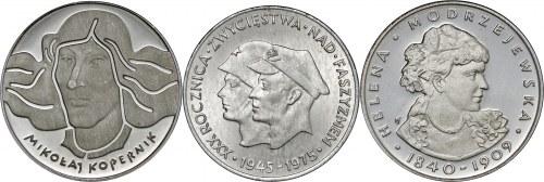 zestaw 3 srebrnych monet