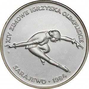 200 zł1984, XIV Zimowe Igrzyska Olimpijskie Sarajewo 1984, Ag750, moneta zapakowana w pudełko typu quadrum