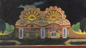 Zygmunt BADOWSKI (1881-1959), Projekt scenografii - fasada