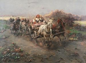 Jan KONARSKI (XIX/XX w.), Jadą wozy