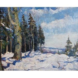Georg WICHMANN (1876-1944), Pejzaż zimowy, ok. 1920