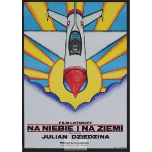 Andrzej Krajewski, Plakat filmowy Na niebie i na ziemi, 1973