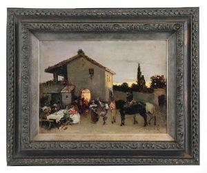 Wilhelm KOTARBIŃSKI (1849-1921), Przed włoską tawerną, 1880?