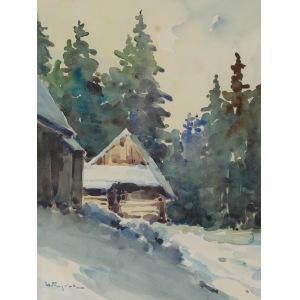 Henryk SAJDAK (1905-1995), Chata góralska zimą