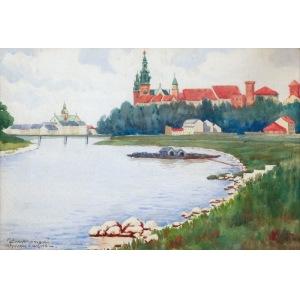 Marian SZCZERBIŃSKI (1900-1981), Widok na Wawel