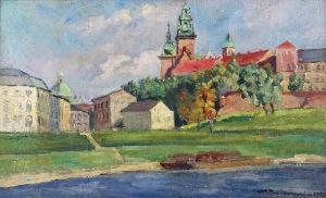 Mieczysław BIESZCZANIN (1910-1969), Widok na Wawel, 1938