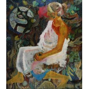 Antoni ŻABSKI (1909-?), Kobieta z kotem