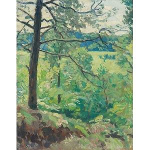 Alfred ŚWIEYKOWSKI (1869-1953), Pejzaż wiosenny
