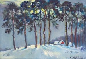 Jerzy POTRZEBOWSKI (1921-1974), Pejzaż zimowy