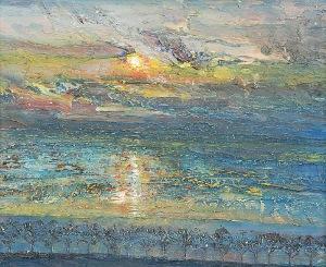 Leszek NOWOSIELSKI (1918-2000), Zachód słońca, 1987