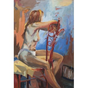 Małgorzata Korenkyewicz (1968), Akt siedzący (1990)
