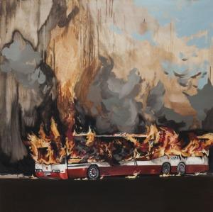 Piotr Szczur (1987), Autobus w ogniu (2014)