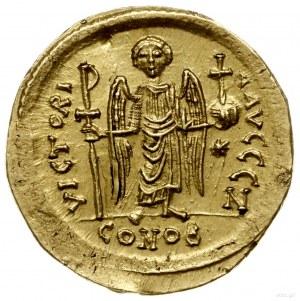 solidus 542-565, Konstantynopol; Aw: Popiersie na wpros...