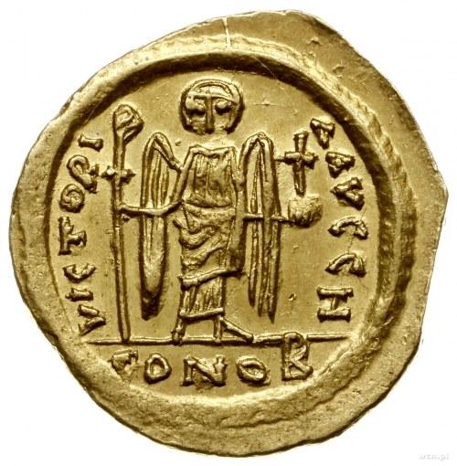 solidus 607-610, Konstantynopol; Aw: Popiersie na wpros...