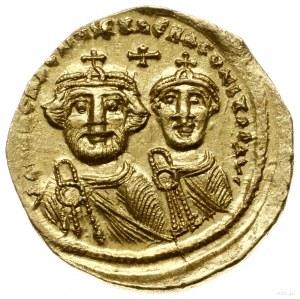 solidus 616-625, Konstantynopol; Aw: Popiersia obu cesa...