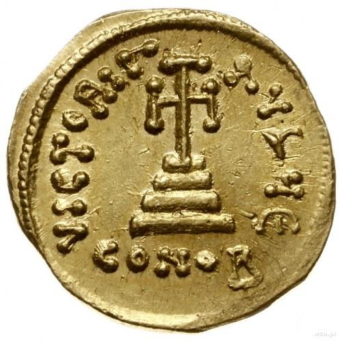 solidus 641-646, Konstantynopol; Aw: Popiersie cesarza ...