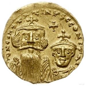 solidus 654-659, Konstantynopol; Aw: Popiersia cesarzy ...