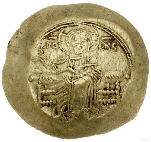 hyperpyron nomisma, Konstantynopol; Aw: Siedzący Chryst...