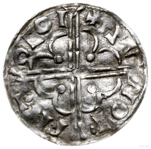denar typu quatrefoil, 1018-1024, mennica York, mincerz...
