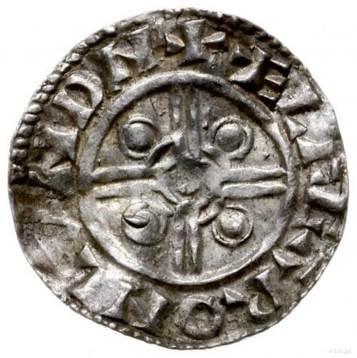 denar typu pointed helmet, 1024-1030, mennica London, m...